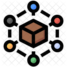Delivery Box Connection Icon Of Colored Outline Style Available In Svg Png Eps Ai Icon Fonts