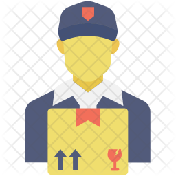 Delivery Boy Flat Icon
