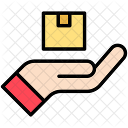 Delivery by hand Icon
