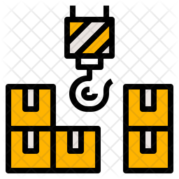 Delivery Container Colored Outline Icon