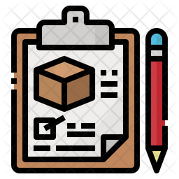 Delivery List Colored Outline Icon