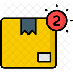 Delivery Notification Colored Outline Icon
