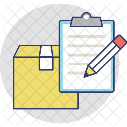 Delivery Report Colored Outline Icon
