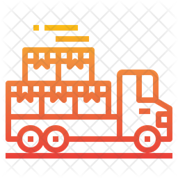 Delivery Truck Gradient Icon
