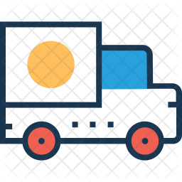 Delivery truck Colored Outline Icon