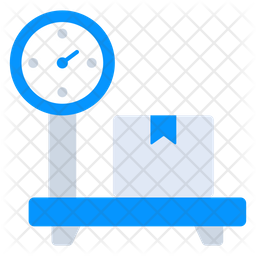 Delivery Weighing Flat Icon