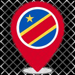 Democratic republic of congo Flat  Flag Icon