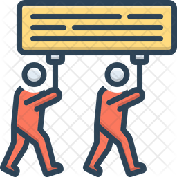 Demonstration Colored Outline Icon