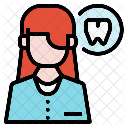 Dentist Colored Outline Icon