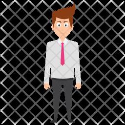 Depressed Businessman Icon