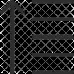 Descending Line Icon