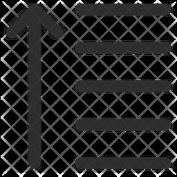 Descending Glyph Icon