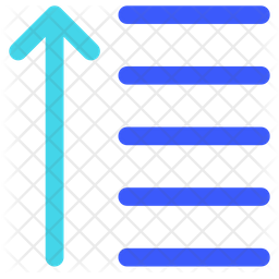 Descending Flat Icon