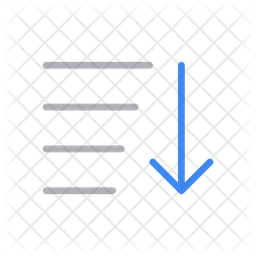 Descending Sorting Line Icon