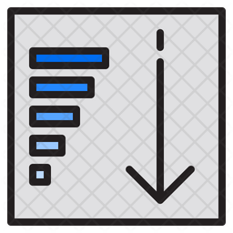 Descending Sorting Colored Outline Icon