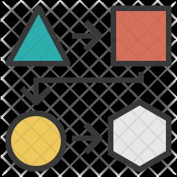Design Process Colored Outline Icon