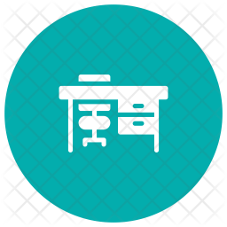 Desk Glyph Icon