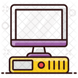 Desktop Computer Colored Outline Icon