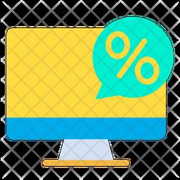 Desktop Discount Icon