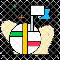 Destination Flag Colored Outline Icon