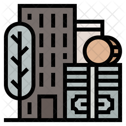 Developed country Colored Outline Icon