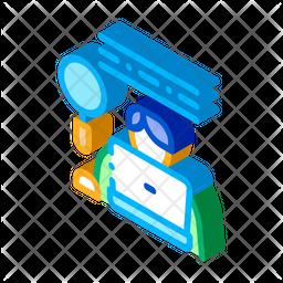 Developer Isometric Icon