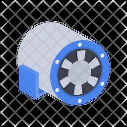 Diagonal fan Icon