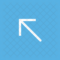 Diagonal, Left, Up, Arrow, Square Icon png