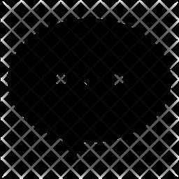 Dialogue Bubble Glyph Icon