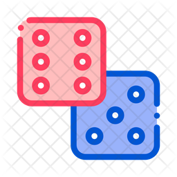 Dice Colored Outline Icon