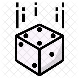 Dice Rolling Icon Of Colored Outline Style Available In Svg Png Eps Ai Icon Fonts