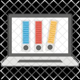 Digital Archive Flat Icon
