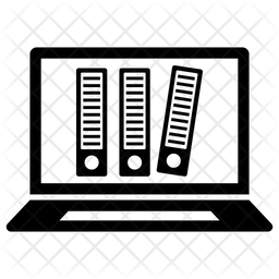 Digital Archive Glyph Icon