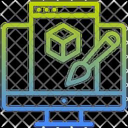 Digital Art Gradient Icon