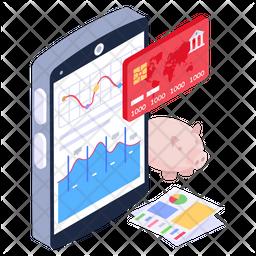 Digital Banking Isometric Icon