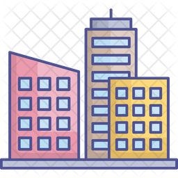 Digital City Icon Of Colored Outline Style Available In Svg Png Eps Ai Icon Fonts