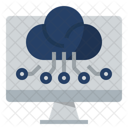 Digital Computing Technologies Flat Icon