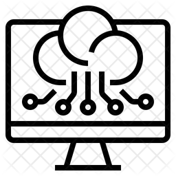 Digital Computing Technologies Line Icon