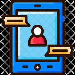 Digital Consulltation Colored Outline Icon