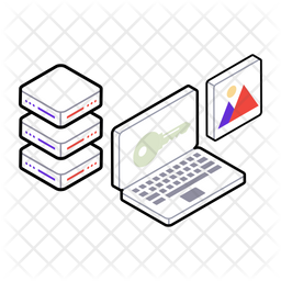 Digital Data Security Isometric Icon