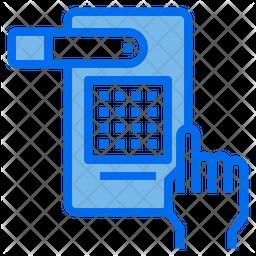 Digital Door Lock Dualtone Icon