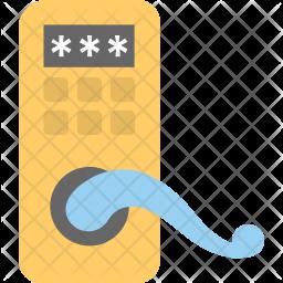 Digital Door Lock Icon