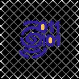Digital Fingerprint Icon