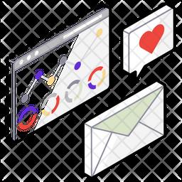 Digital Marketing Isometric  Logo Icon