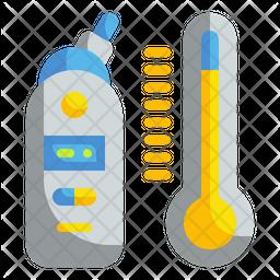 Digital Thermometer Icon