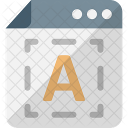 Digital typography Icon