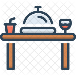 Dinner Colored Outline Icon