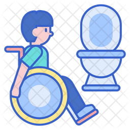 Disability Toilet Icon Of Colored Outline Style Available In Svg Png Eps Ai Icon Fonts