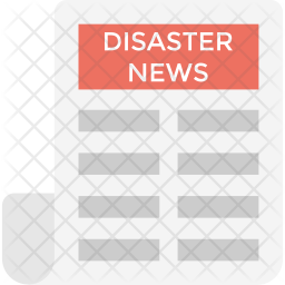 Disaster News Flat Icon