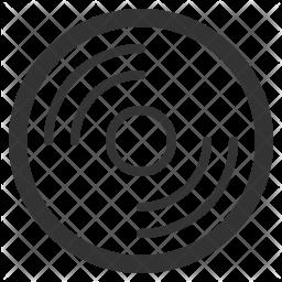 Disc Line Icon